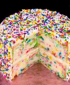 Funfetti Cake Recipe (Birthday Cake with Rainbow Sprinkles)