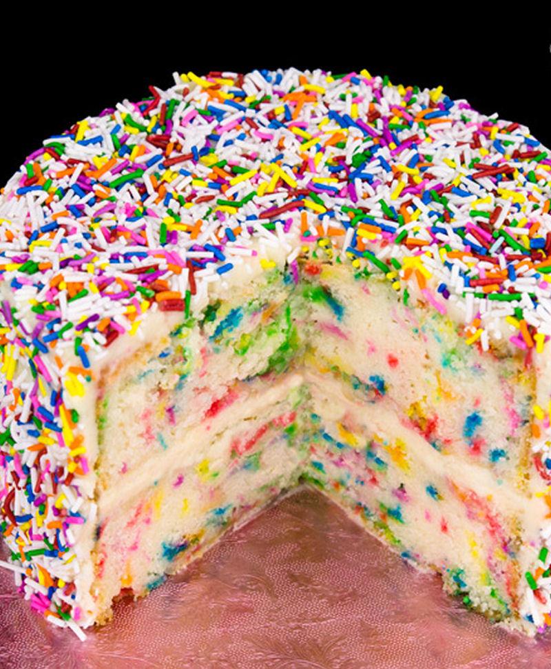 Funfetti Cake Recipe Birthday Cake With Rainbow Sprinkles