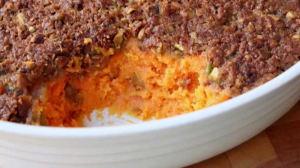 Sweet Potato Casserole with Pistachio Crust