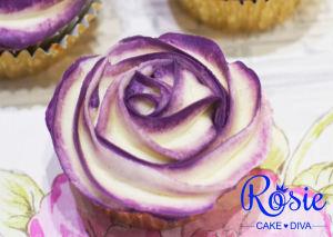 Two Tone Buttercream Rose Cupcake Tutorial