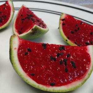 Jello Watermelon Slices