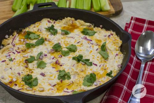 Golden BBQ Chicken Dip