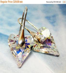 Swarovski Crystal Wild Heart Earrings